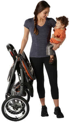 Graco Jogging Stroller Travel System with Baby