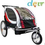 Clevr 2-in-1 Foldable Bicycle Trailer Baby Jogger