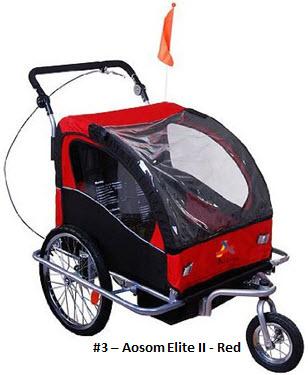 Aosom Elite II Child Bike Trailer in Red