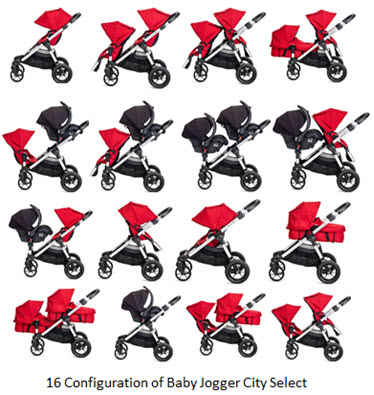 16 Configurations of Baby Jogger City Select