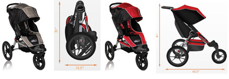 Baby Jogger Summit XC Single Stroller Styles and Colors