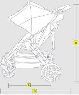 BOB Motion Stroller Dimensions