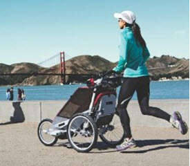Mom Jogging with Chariot Cougar 2