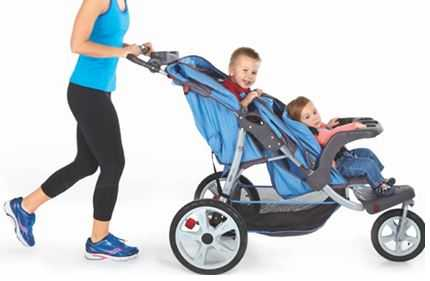 InStep Tandem Double Jogging Stroller in Use