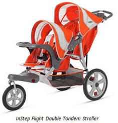 Instep Safari Swivel Double Jogging Stroller Car Seat Adapter