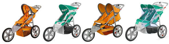 Available Styles of Instep Flash Jogging Stroller