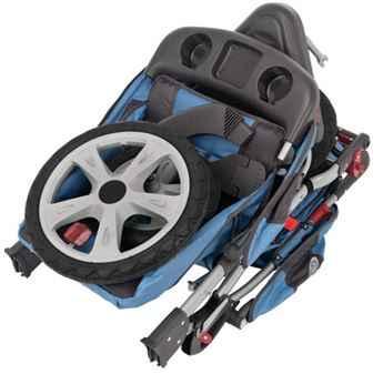 InStep Tandem Double Stroller Folded
