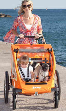 Joovy Cocoon X2 with Mother, Baby and a Dog