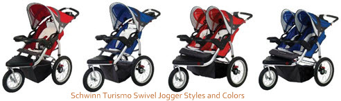 Schwinn Turismo Swivel Jogger Styles and Colors