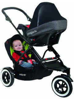 phil and teds dot the smallest full feature convertible inline stroller. Black Bedroom Furniture Sets. Home Design Ideas