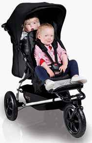 Mountain Buggy Plus One with Two Kids