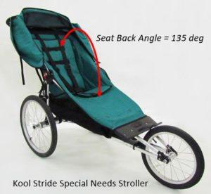 Kool Stride Stroller Seat Back Angle