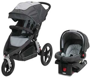 Graco Relay Click Connect Jogging Stroller with Infant Car Seat