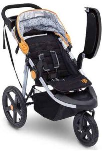 J is for Jeep Brand Adventure All-Terrain Jogging Stroller with Childs Tray