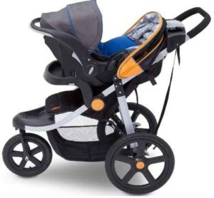 J is for Jeep Brand Adventure All-Terrain Jogging Stroller with Infant Car Seat