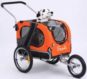 Sepnine 2 in 1 Pet Dog Bike Trailer Jogger