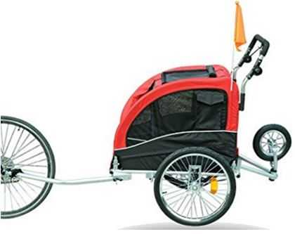 Aosom Elite II Pet Dog Bike Bicycle Trailer Stroller Suspension Jogger
