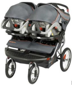 Baby Trend Navigator Double Jogger Stroller with Infant Car Seat