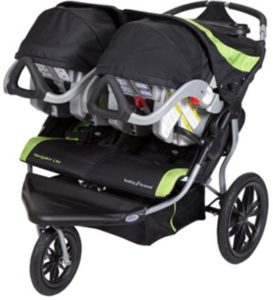 Baby Trend Navigator Lite Double Jogger with Infant Car Seats