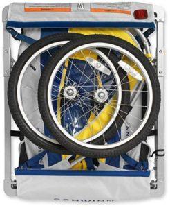 schwinn echo double bike trailer folds small