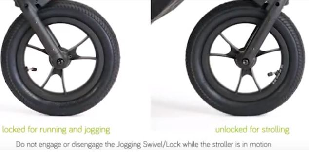 Locking Baby Jogger Summit X3 Front Wheel