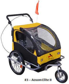 Aosom Elite II 3in1 Double Child Bike Trailer