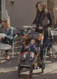 Motion Stroller in Crowded Place
