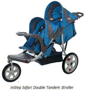 InStep Safari Double Tandem Jogging Stroller