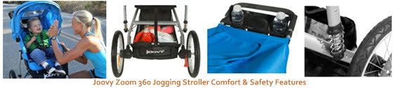 Joovy Zoom 360 Jogging Stroller Comfort & Safety Features